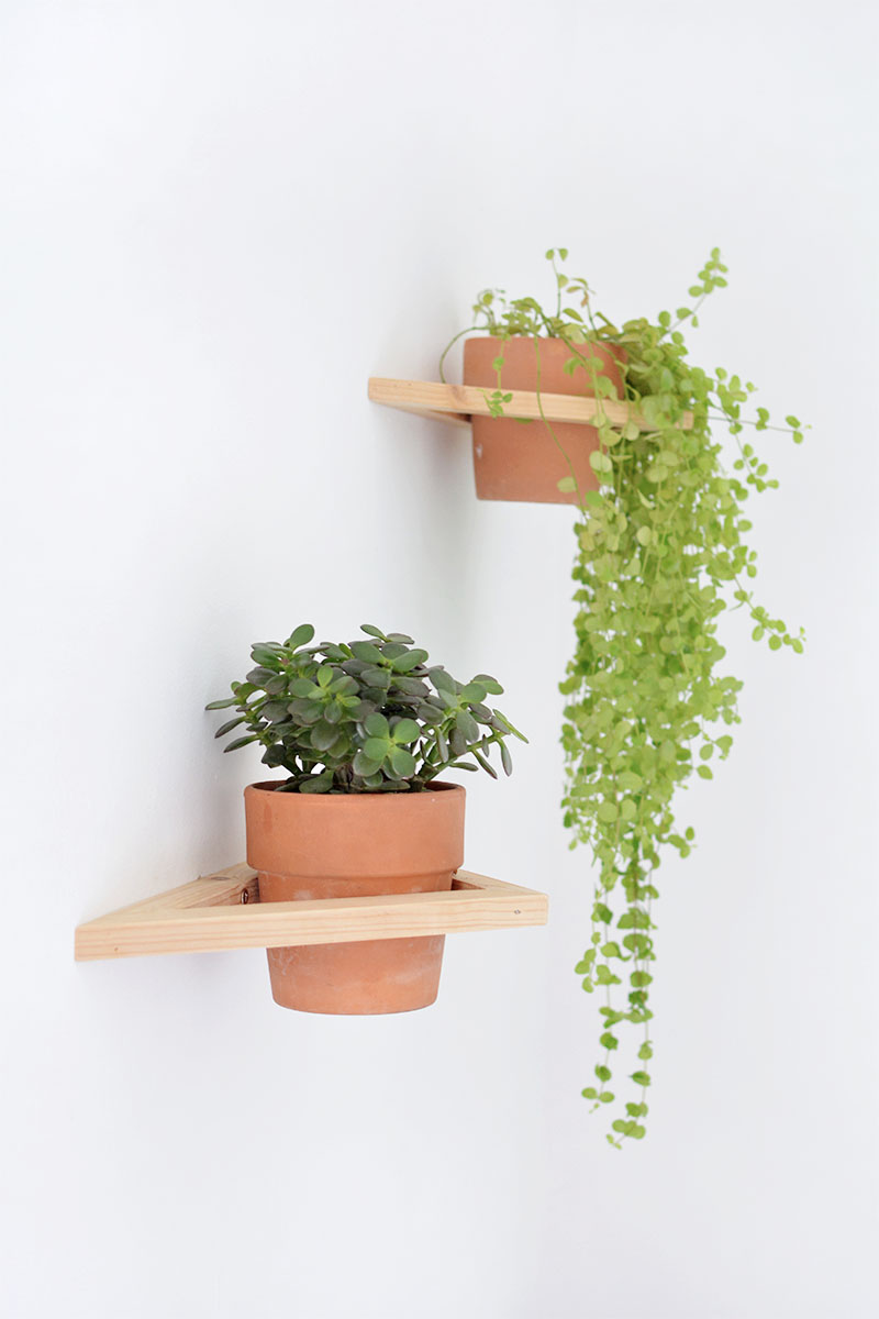 triangle wall planter DIY