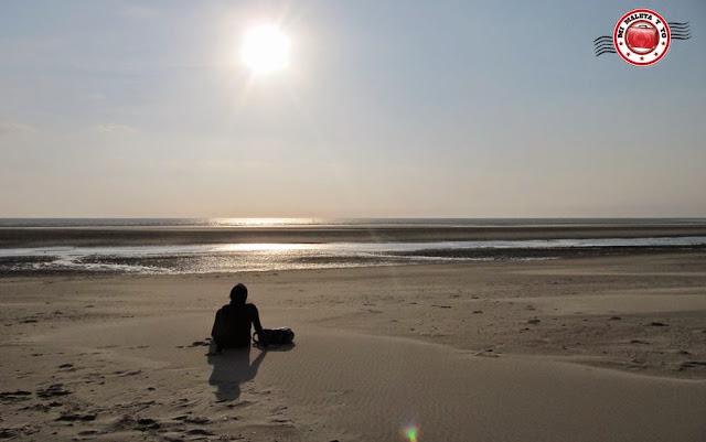 En la playa de Le Touquet, Francia