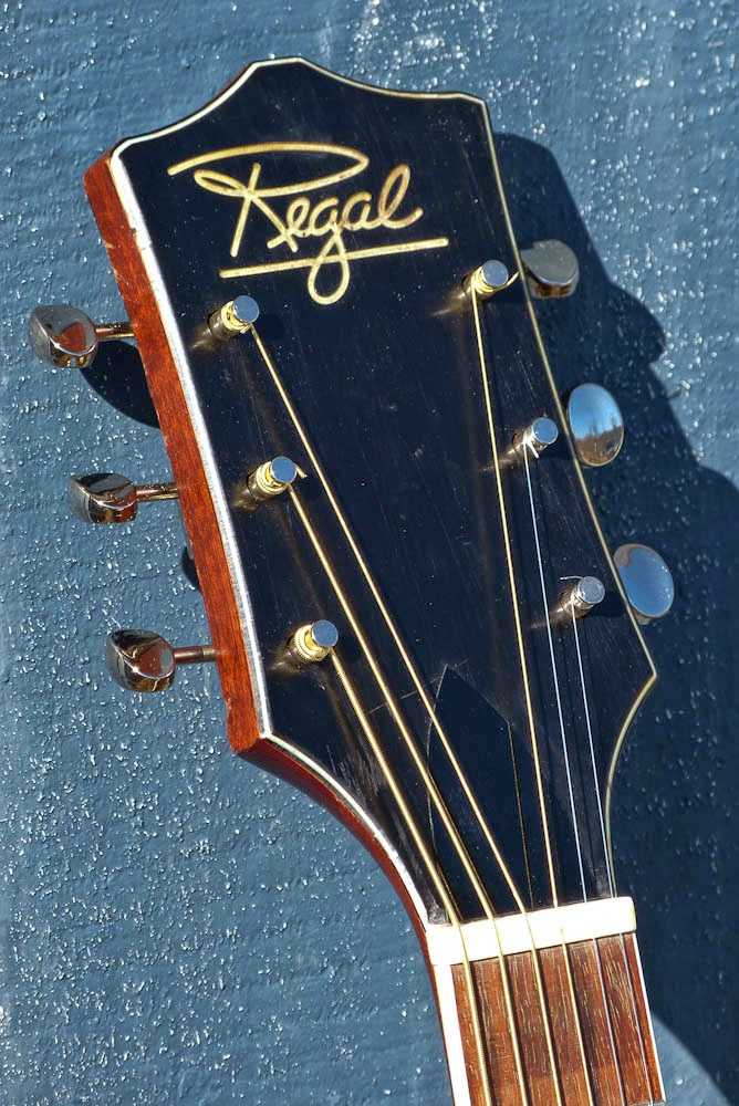 harmony made regal r235 jumbo guitar. Black Bedroom Furniture Sets. Home Design Ideas