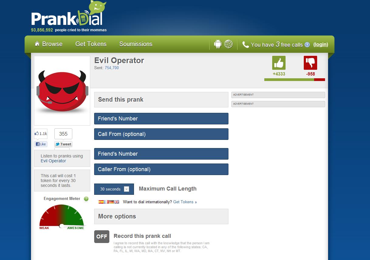 evil operator prank