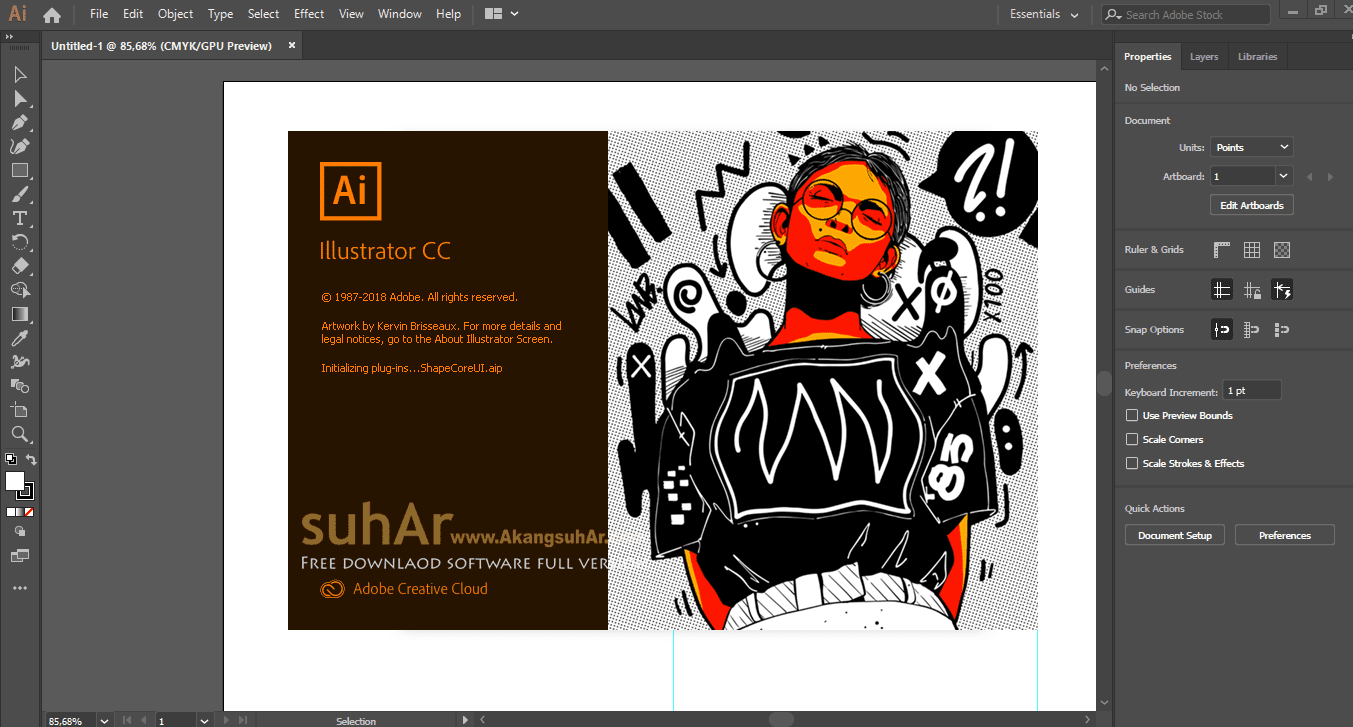 Free Download Adobe Illustrator CC 2019 Final Full Version, Adobe Illustrator CC 2019 Full Serial Number, Adobe Illustrator CC Full Patch