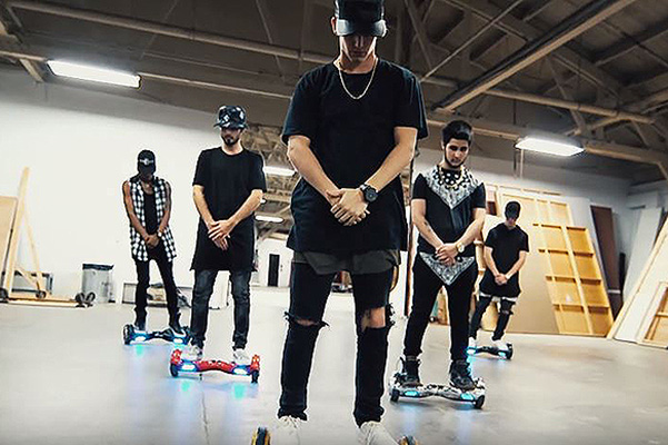 The dance of the guys on the Segways to the song Justin Bieber blew up the Internet