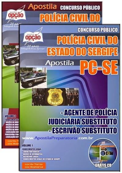 Apostila Polícia Civil/SE - Agente de Polícia Judiciária - PC-SE.