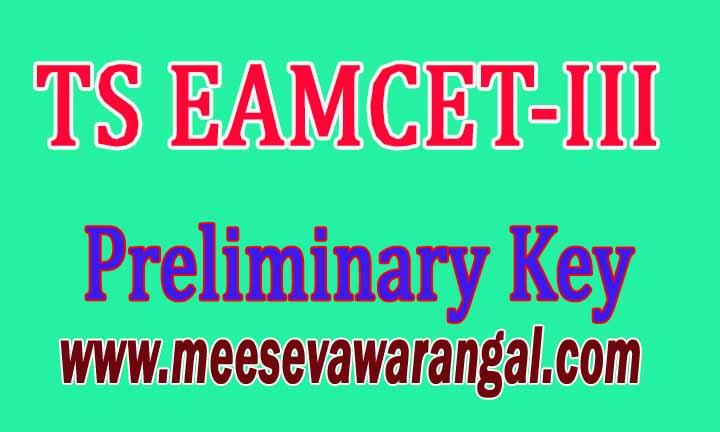 Telangana TS EAMCET-III 2016 Preliminary Key