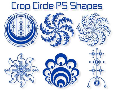 تحميل أشكال دوائر زخرفية للفوتوشوب مجاناً, Crop Circle Photoshop shapes free download