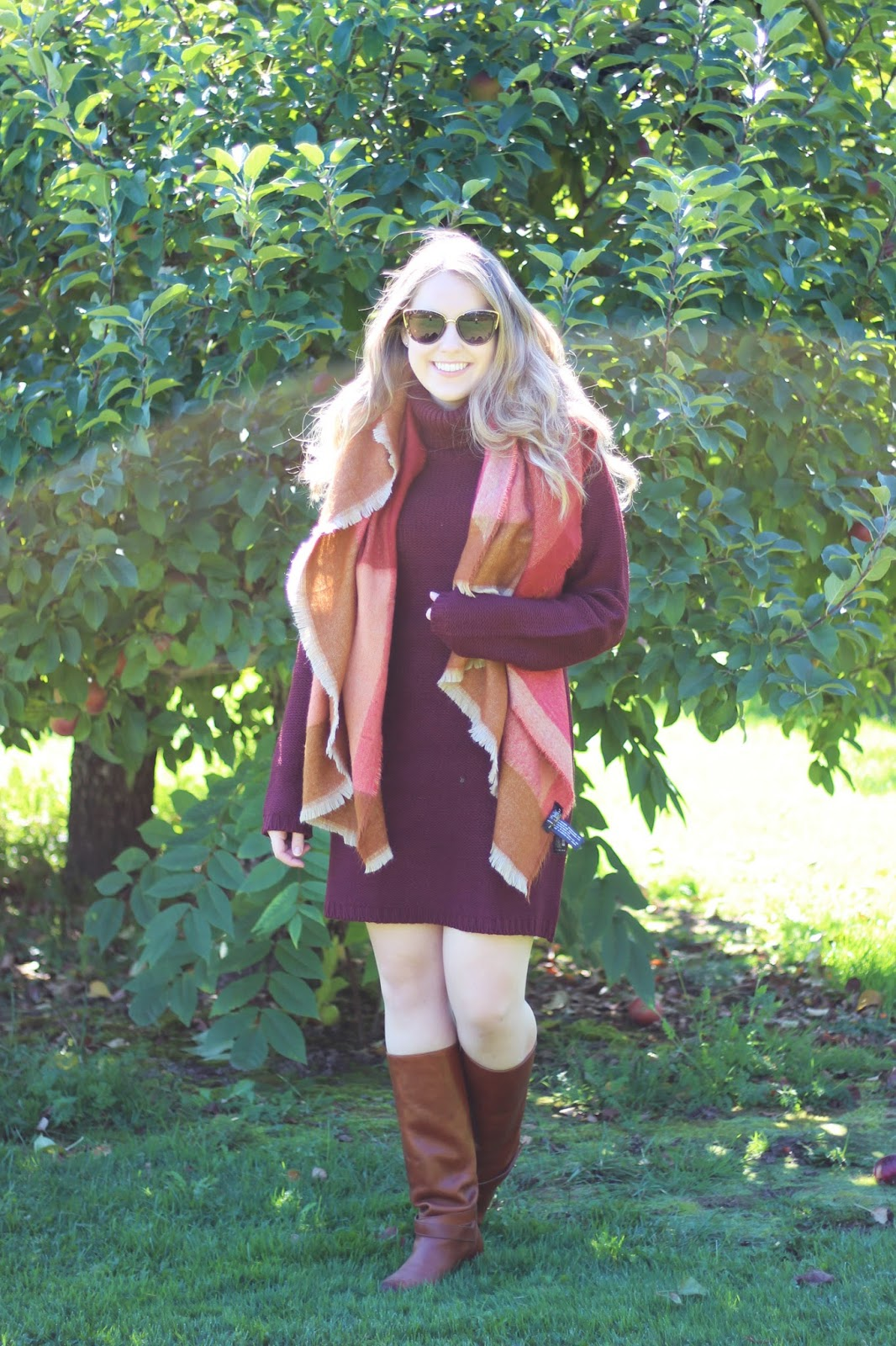 tobi, outfit, fall fashion, outfits, fall clothing, sweaters, sweater dresses, blanket scarf, blanket scarves, riding boots, fall styling, toronto blogger