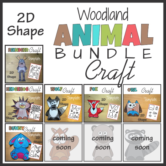 Woodland Animals 2D Shape Craft