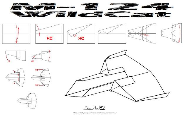 Infografía avión de papel M-124 WildCat
