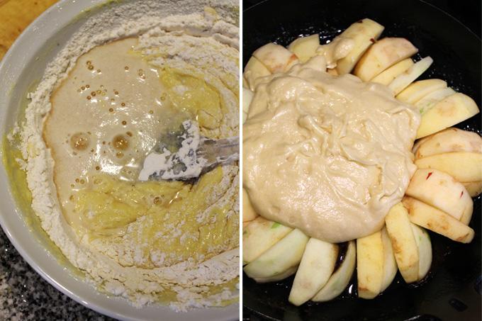 torta invertida manzana
