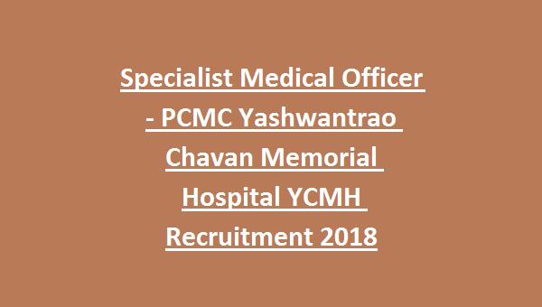 Specialist Medical Officer -Pimpri Chinchwad Municipal