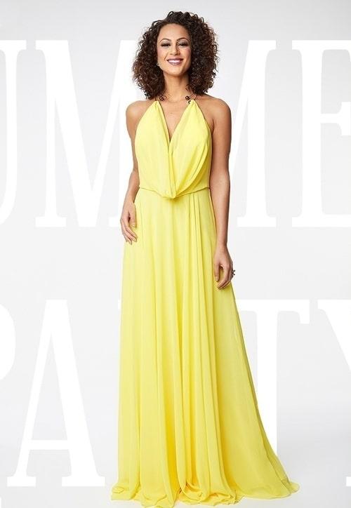 vestido longo amarelo fluido