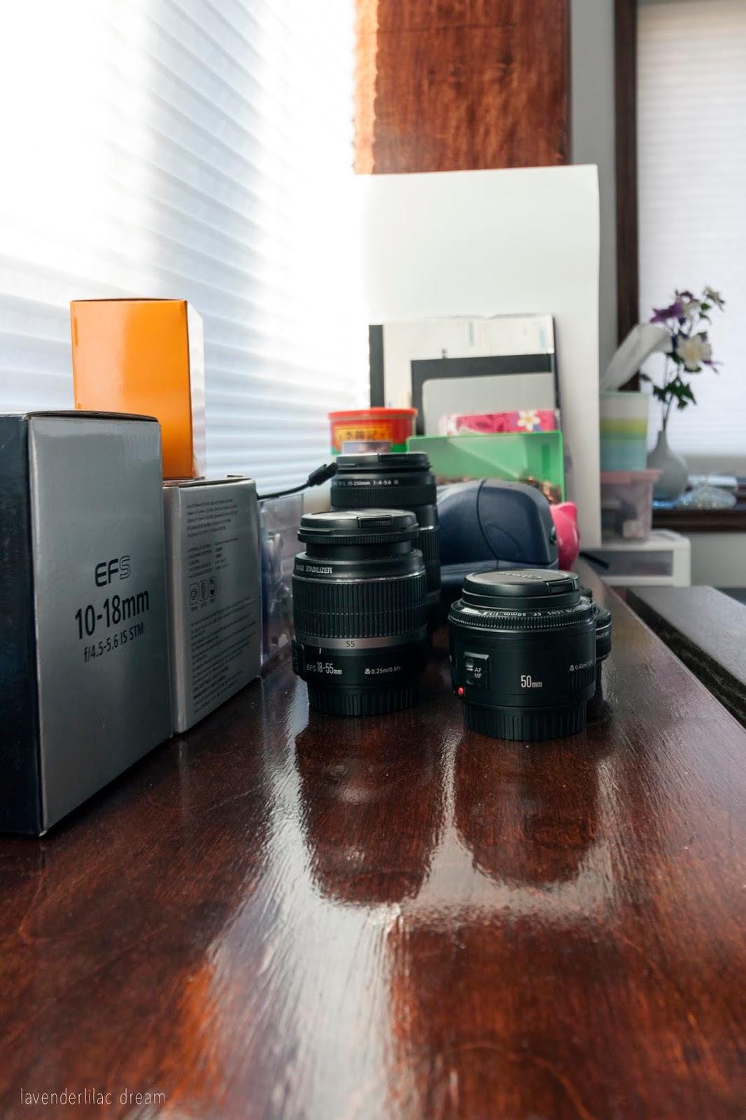 Camera lenses & notebook display