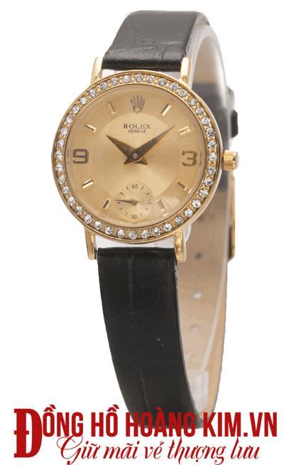 đồng hồ rolex nữ chính hãng dây da