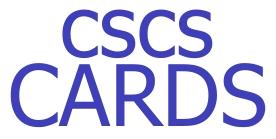 Get Your CSCS Card