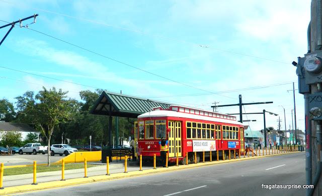 Bondinho (street car) de Nova Orleans