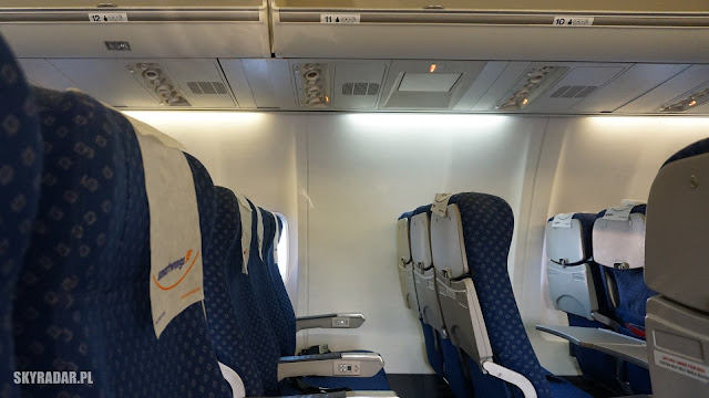 Boeing 737 - Ryanair, Travel Service - Miejsce w samolocie bez okna 11A