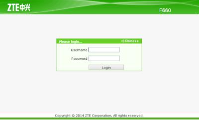 Mengetahui, Melihat, Merubah, Membuka, dan Mendapatkan, Username Password Admin di Modem ZTE F660