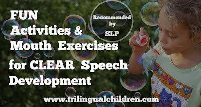 Fun Activities and Mouth Exercises for Toddlers' Clear Speech Development.