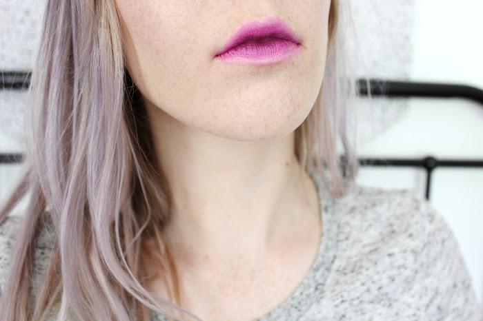 artdeco ombre lipstick 33 violet vibes lips