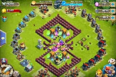 Kumpulan Base Castle Clash / Konflik Kastil Terkuat Untuk HBM bentuk persegi double