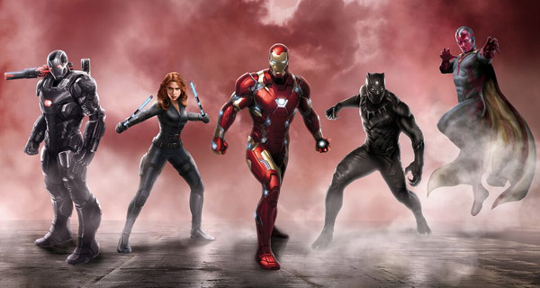 Equipo de Iron Man en Captain America: Civil War