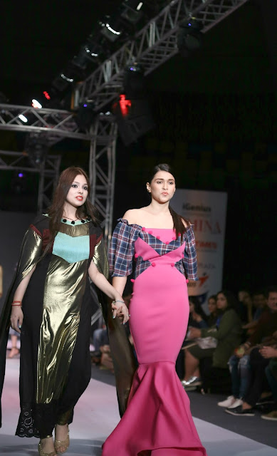 Designer Ashima Sharma with Actress Mannara Chopra