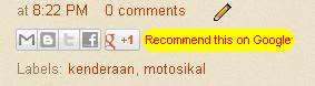Cara menghilangkan tombol recommend google plus