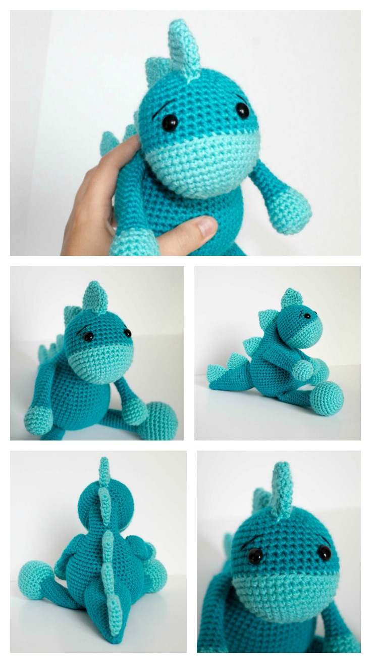 Amigurumi Dinosaur Free Crochet Patterns (With images) | Crochet ... | 1311x735