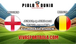 Prediksi Bola Inggris vs Belgia 29 Juni 2018