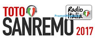 Logo Vinci gratis con TotoSanremo e Radio Italia