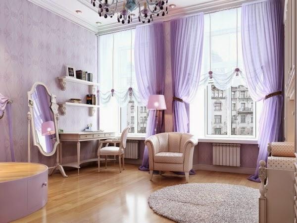 Purple Bedroom Curtains Ideas In Luxurious Bedroom 2015