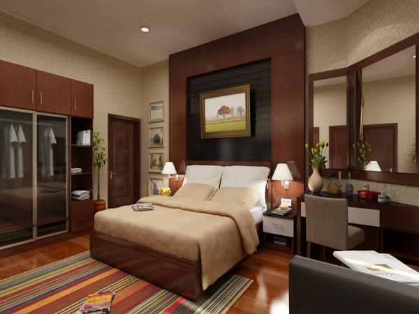 Dormitorios chocolate y crema colores en casa - Dormitorio beige ...
