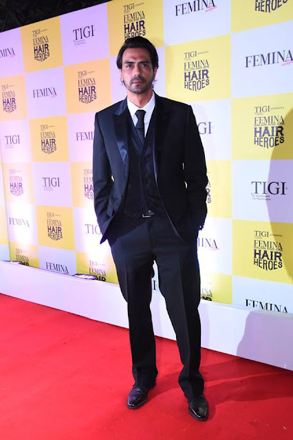 Actor Arjun Rampal won the Style Icon Award at Femina Salon & Spa Hair Heroes 2016