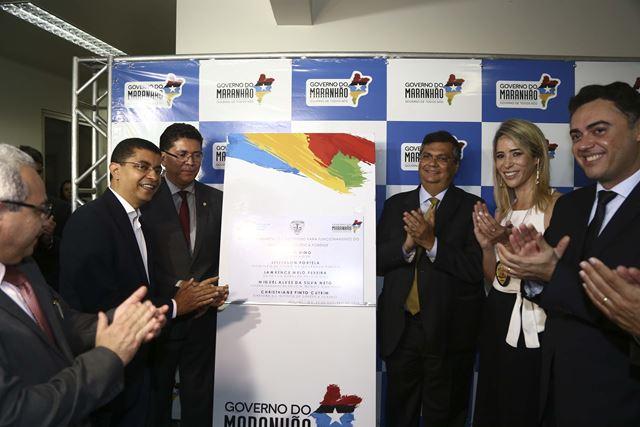 Governador Flávio Dino na inauguração do Instituto de Genética Forense do Brasil. Foto: Gilson Teixeira