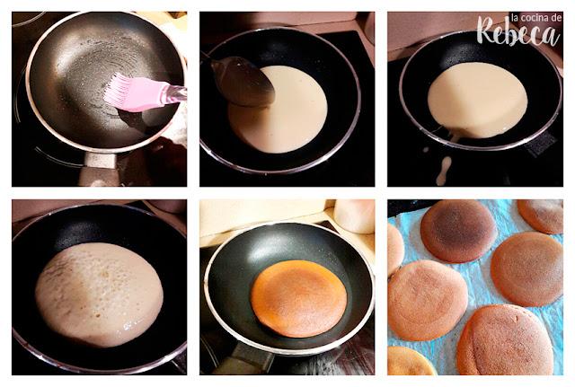 Receta de dorayakis con chocolate (tortitas japonesas rellenas) 03