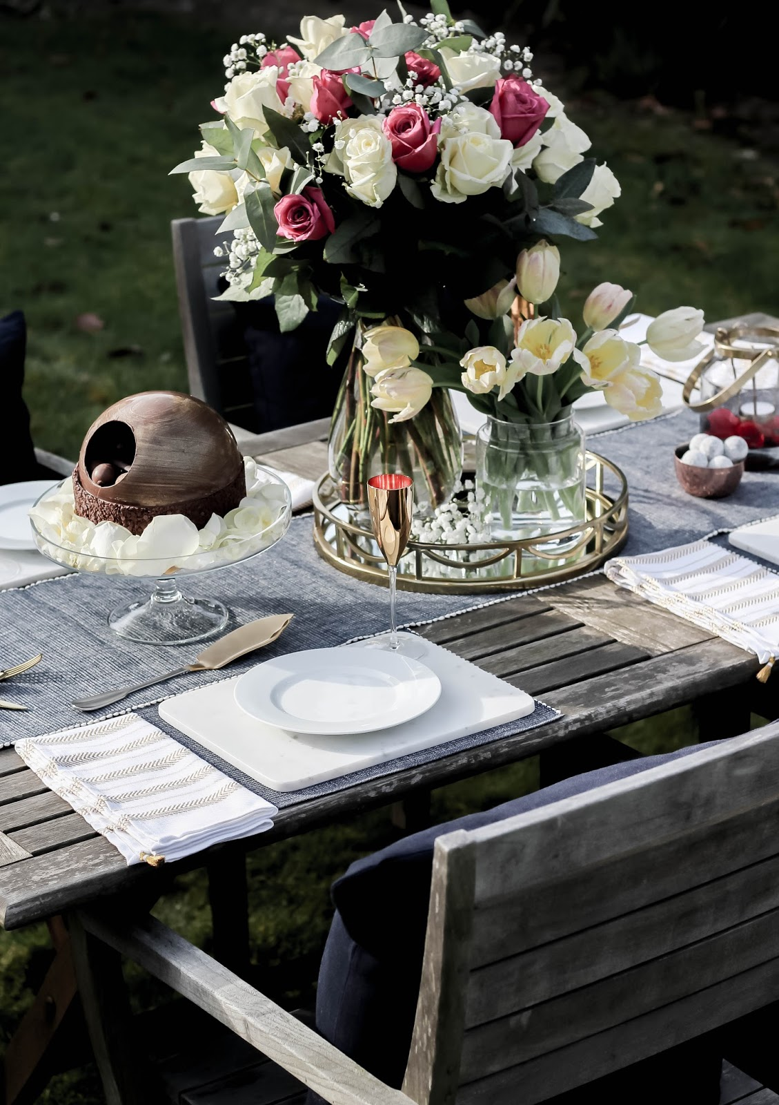 Lifestyle Blog Mother's Day Floral Display Tips Table Setting