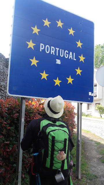 divisa Portugal e Espanha no Caminho de Santiago de Compostela
