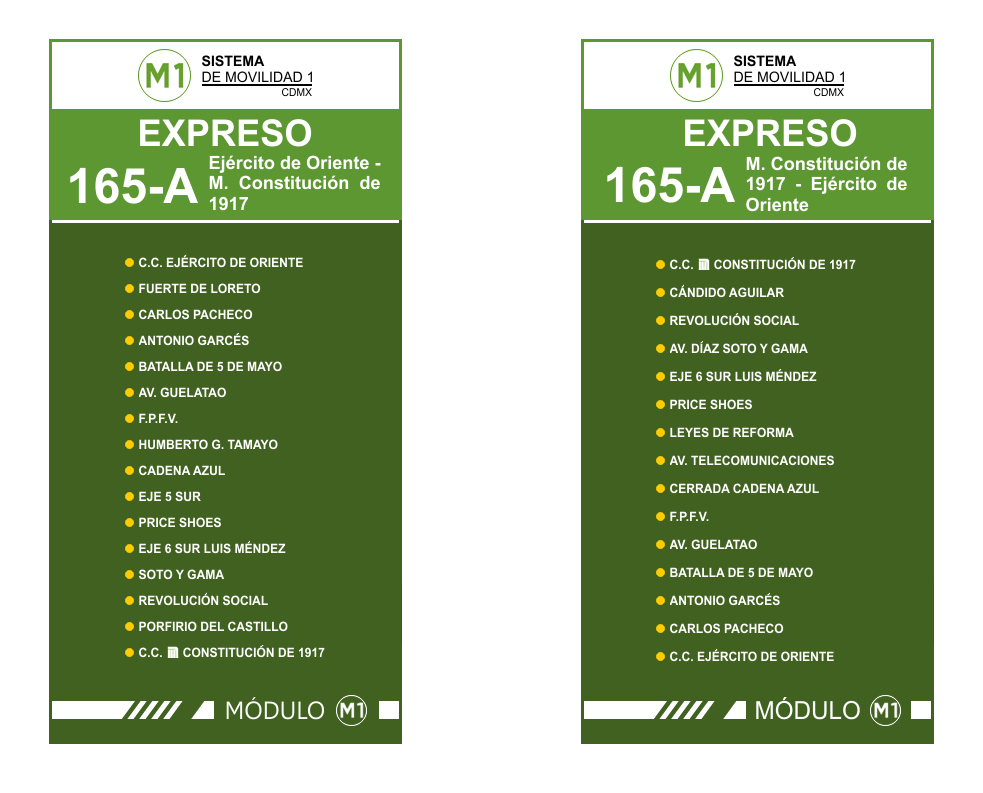 Circuito Bicentenario : Servicio expreso rtp m