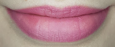 Avon True Colour Delicate Matte Lipstick lip swatch in Mauve Whisper