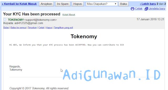 verifikasi akun tokenomy