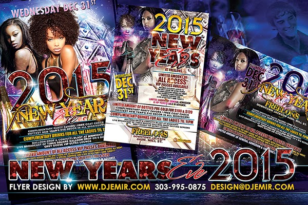 Gorgeous and Elegant Urban New Year's Eve Flyer design