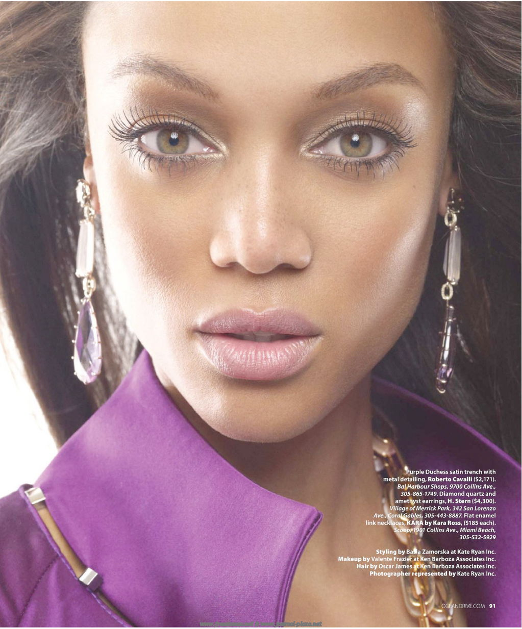 Tyra Banks On The Runway: Tyra Banks (Ocean Drive 2010) HQ