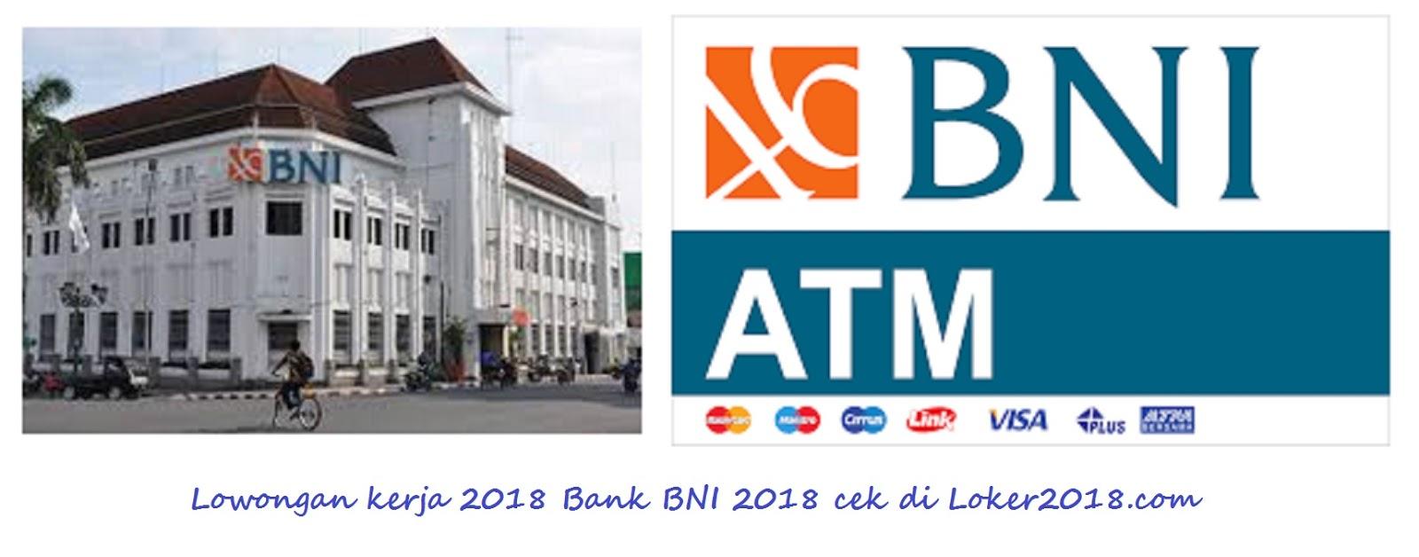 loker 2018 bank bni
