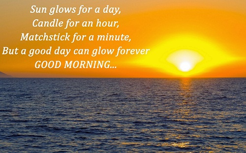 Beautiful Good Morning Image with Quote