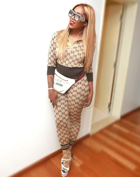Tiwa Savage slays in head to toe Gucci