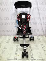 depan iSport W4HK Polkadot Black CocoLatte Lightweight Baby Stroller