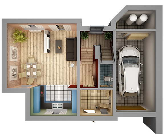 Home House Design Ideas: 13 Awesome 3d House Plan Ideas That Give A Stylish New