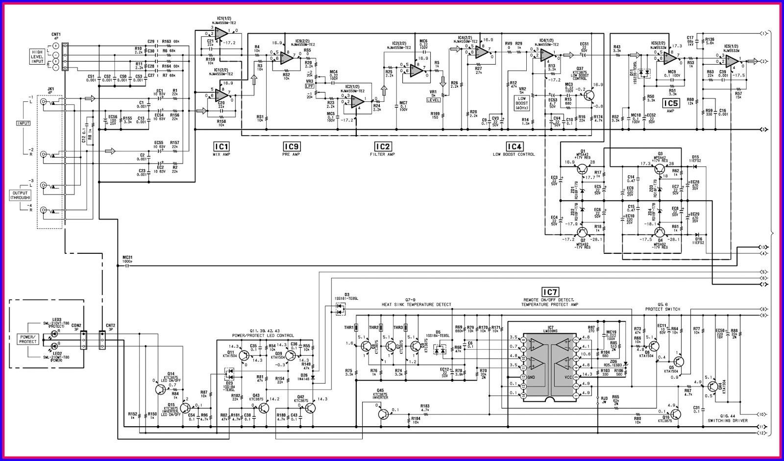 ELECTRONIC EQUIPMENT REPAIR CENTRE : SONY XPLOD XMD1000P5 CAR AMP CIRCUIT DIAGRAM