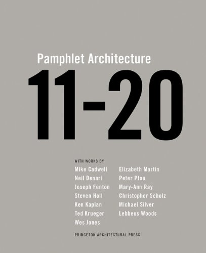 Pamphlet Architecture 11-20 by Steven Holl