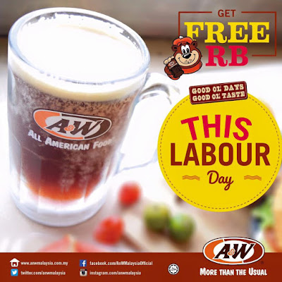 A&W Free Root Beer RB Labour Day Promotion